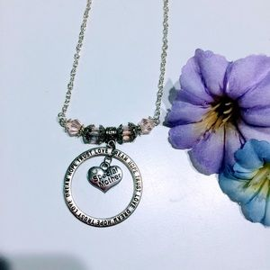 Special mother pink crystal necklace